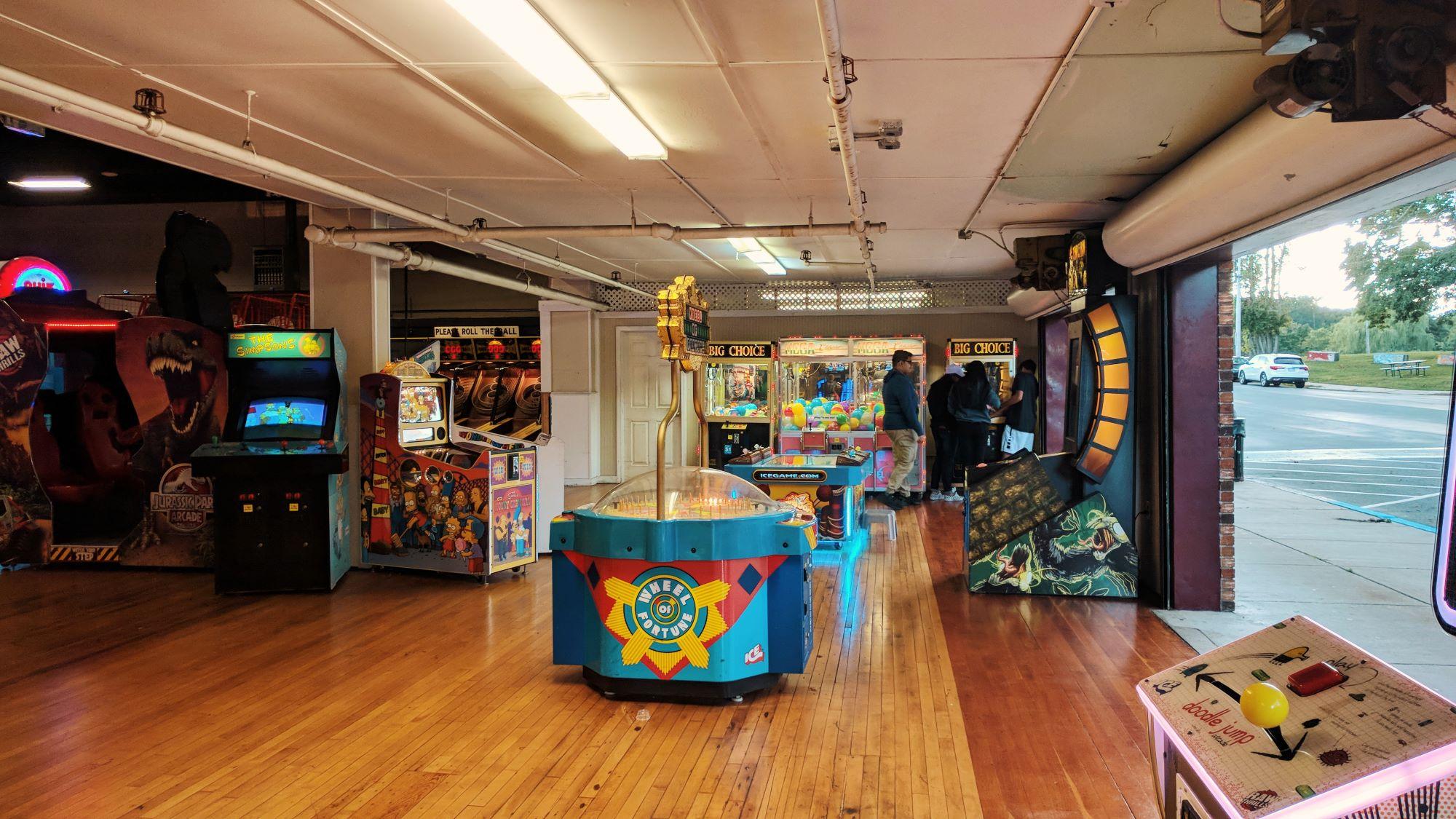 Salem Willows Arcade interior