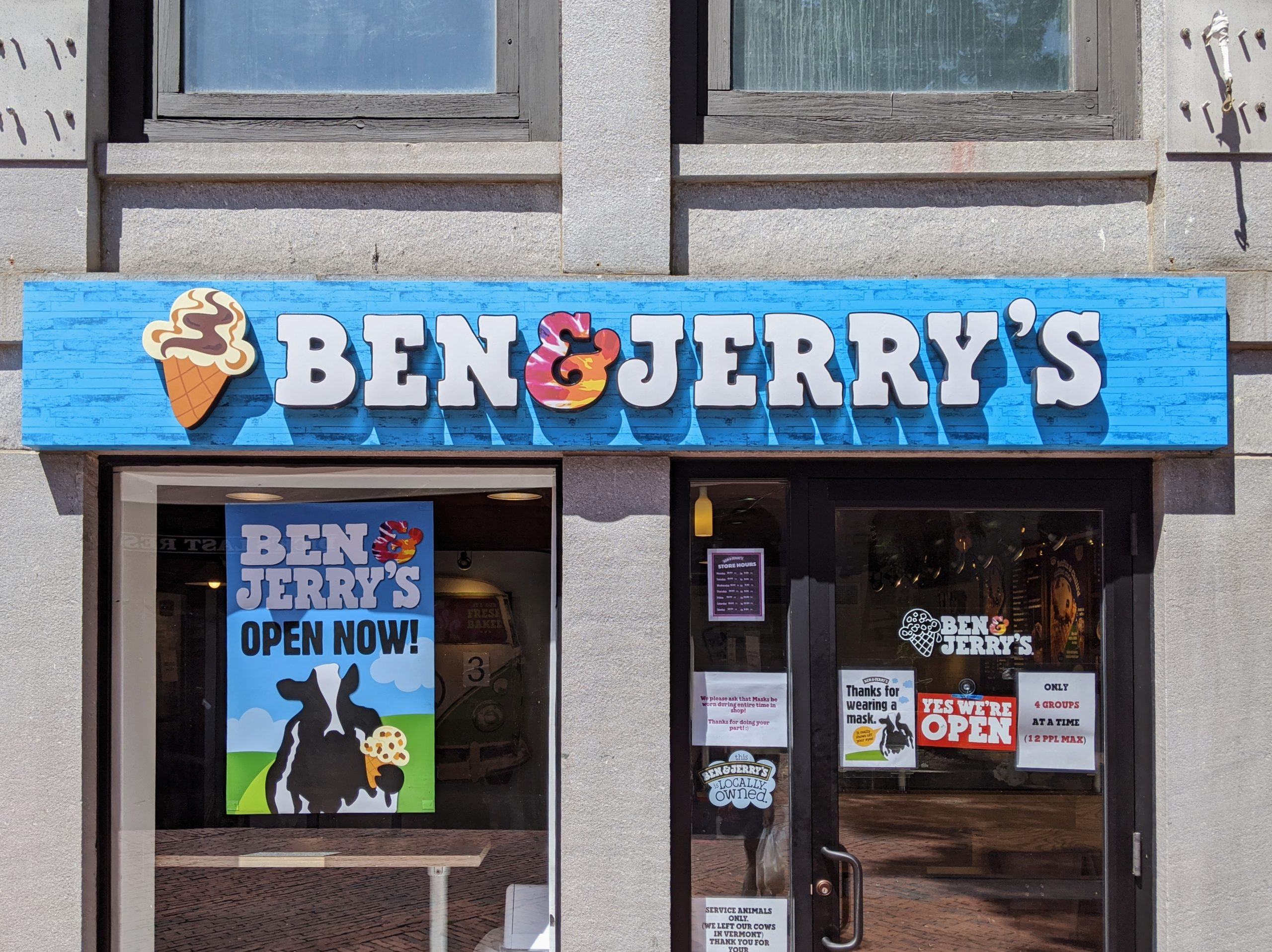 Ben & Jerry's Storefront at Faneuil Hall in Boston