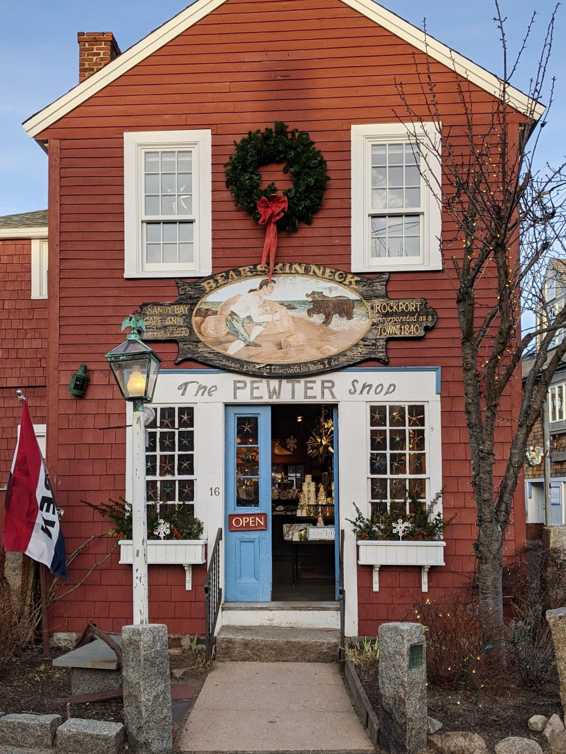 The insta-famous Pewter Store in Rockport, MA