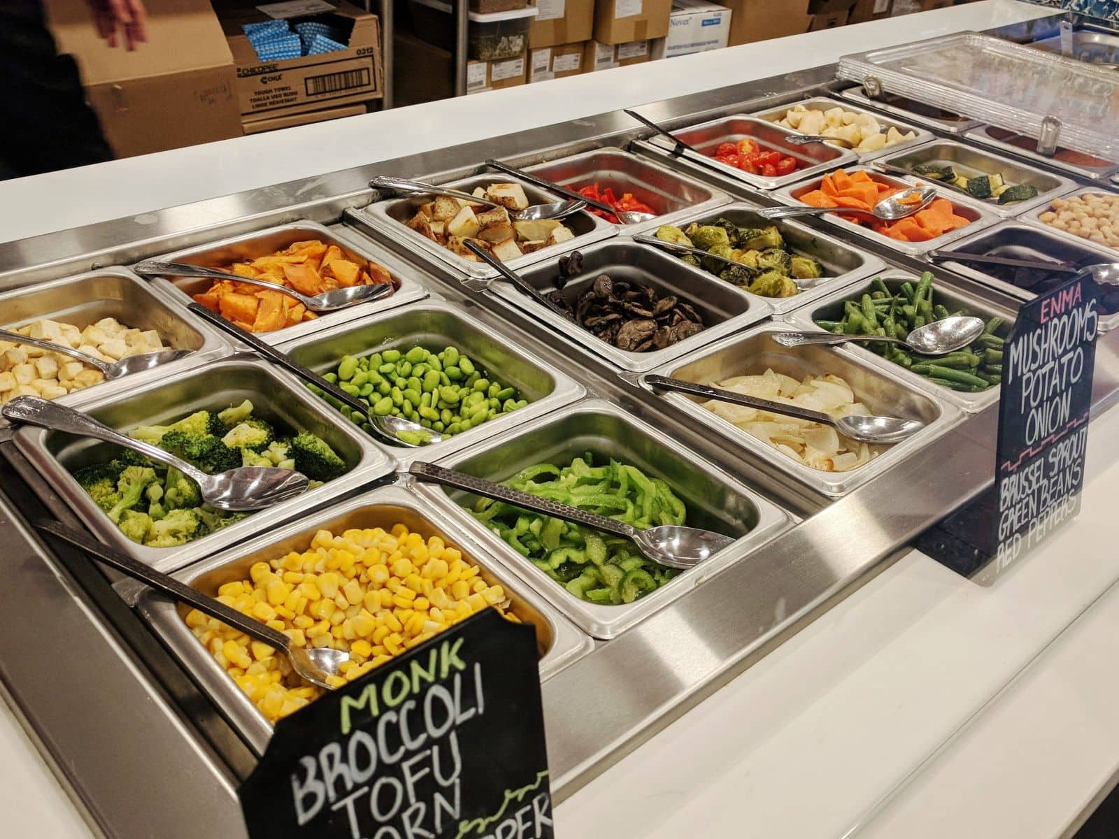 the fresh ingredient options at Red White Boston