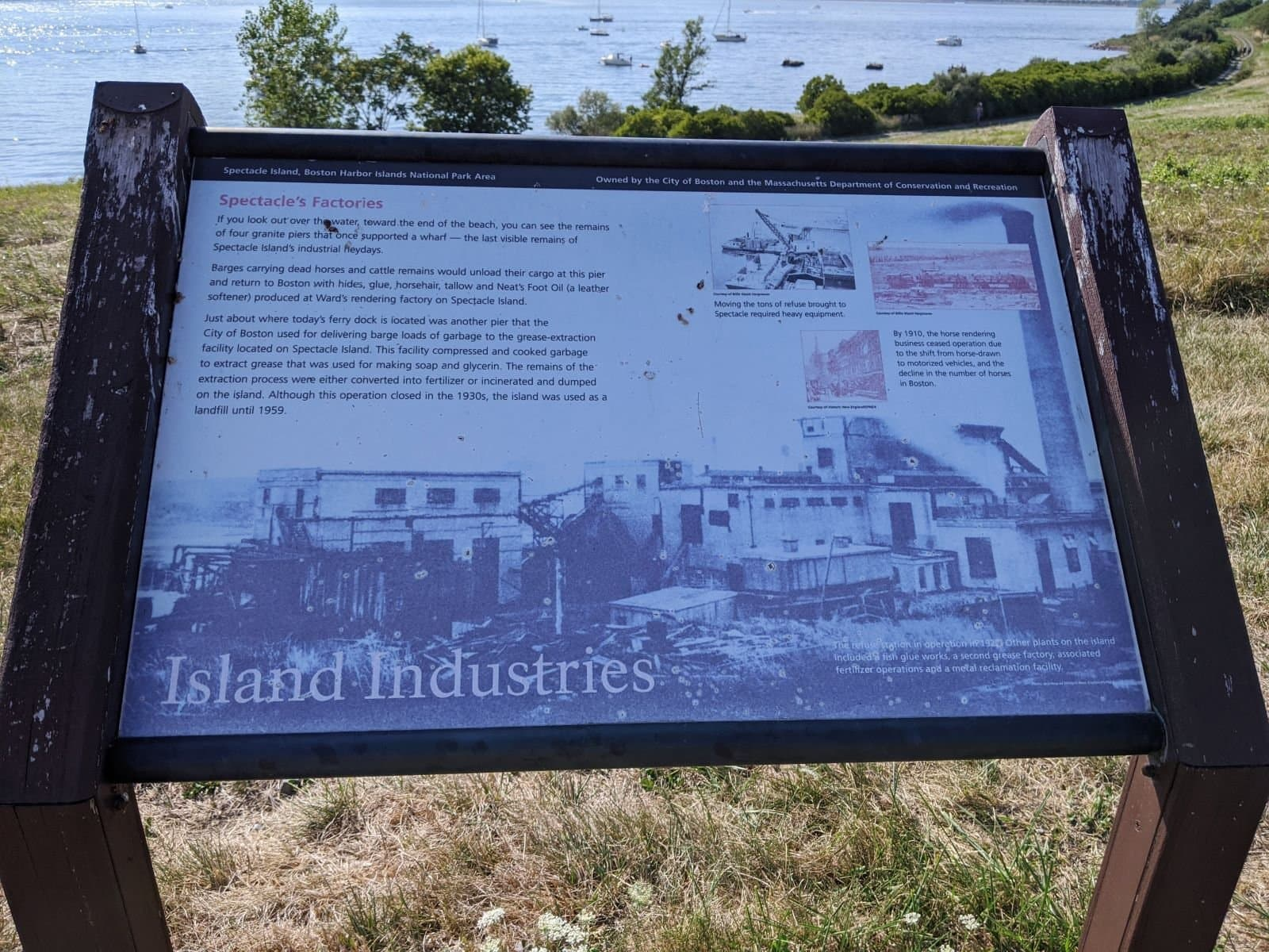Spectacle Island history panel